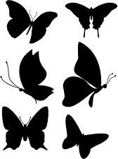 6 butterfly vinyl decal sticker, LAPTOP STICKER TRUCK