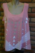 NEW Llly and Lou PEACH Sleeveless Top Bling Trim Gym SHIRT Size 20 Activewear