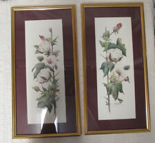 2 Matching Deb Collins Signed Print 3/4 of 2995 Cotton Stages II Framed Wall Art