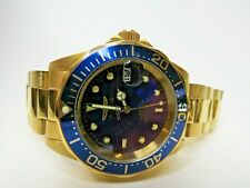 Invicta Men's Automatic Watch Pro Diver 40mm Blue Gold 8930