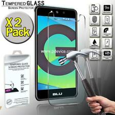 2 Pack Tempered Glass Screen Protector Cover For BLU Studio Grand XL