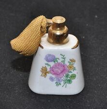 Porta profumo spruzzatore erogatore pompetta Porcellana Ottone vintage