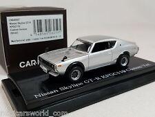 1:64 Kyosho CAR.NEL Nissan Skyline GT-R GTR KPGC110 1973-1989 Custom Ver Silver