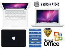 "Apple MacBook A1342, 13.3""  - 4GB RAM - 250GB HDD - Black with office"