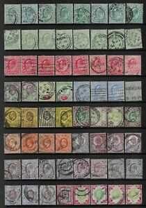 """Collection of fine/good used EdVII """"shades"""" stamps."""
