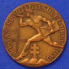 NUDE MALE POSTMAN / MAILMAN w. DOUBLE CROSS 40mm 1939 SIGN. KLAUDINYI