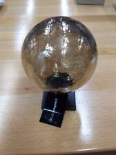 Luster Glass Orb on Metal Base, Paperweight, Bookend, Several Available Gazing