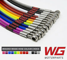 WG Rear Braided Brake Hose Kit for Suzuki Swift Sport 1.6 VVTI ZC31 (2006+)