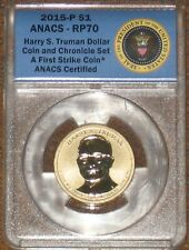 2015 P Truman Reverse Proof Dollar Coin & Chronicle Set ANACS RP 70 PF PR Grade