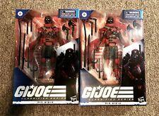 "HASBRO G.I. Joe Classified COBRA Red Ninja x2 ARASHIKAGE RARE  6"" Inch Figure"