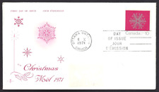 Canada  # 556  Rosecraft  CHRISTMAS SNOWFLAKES    Used 1971 Cover
