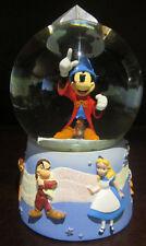 RARE Disney Store Sorcerer Mickey Mouse Alice Bambi Grumpy Pinocchio Snowglobe
