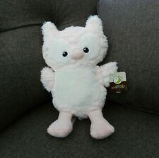 "Animal Adventure Baby Pink White Plush Owl~Super Soft Stuffed 13"" Lovey NWT 2018"