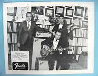 FENDER GUITAR with ROGER WILLIAMS etc. 1968 PROMO PHOTO