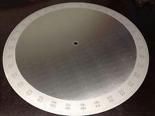 Gradscheibe 300mm 0-360° Stahl inox blendfrei mattiert