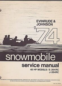 1974 EVINRUDE MOTORS 45 HP SNOWMOBILE SERVICE MANUAL section 7