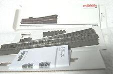 Märklin 24711 linkse slanke wissel met hartstuk 236,10 mm R = 1114,6 mm 12,10°.