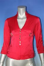 Women's Stylish Career Style Red V Neck Blouse Top - Size Small