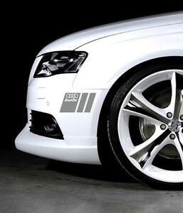 Audi A3 A4 A5 A6 A8 S4 S5 S6 RS4 Q3 Q5 Q7 TT S-Line Decal sticker emblem PAIR S