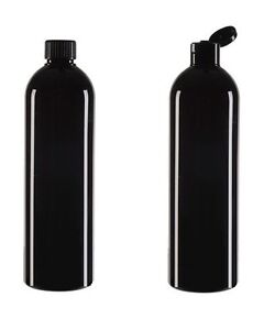 500ml Black Plastic Bottles Screw Snap Cap Aromatherapy Carrier Massage Oil New