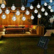 More details for 100led solar powered retro bulb string lights&garden outdoor fairy summer lamp