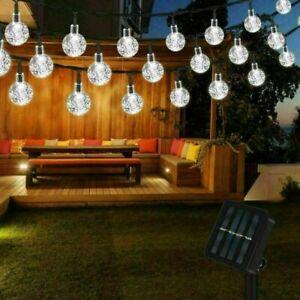 100LED SOLAR POWERED RETRO BULB STRING LIGHTS&GARDEN OUTDOOR FAIRY SUMMER LAMP