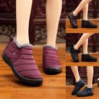 Winter Women Men Shoes Snow Boots Fur Lined Antiskid Warm Ankle Boots Waterproof