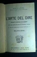 LIPPARINI L'ARTE DEL DIRE SIGNORELLI 1913