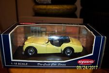 1:18 Diecast KYOSHO TRIUMPH TR3A YELLOW #7025Y MINT IN BOX AND HARD TO FIND