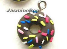 DONUTS Polymer Fimo Clay Earrings Charms Beads 15mm*6