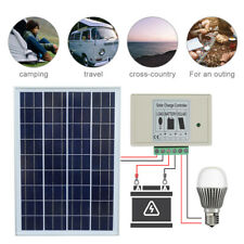 Eco 25W 20W Watt 12V Solar Panel + 3A Solar Charge Controller Battery Charger