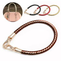 Braided PU Leather Handbag Shoulder Bag Strap Bag Chain Handle Replacements Top