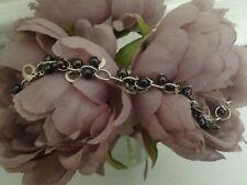 Real Silver and Black Pearl Bracelet by Designer Zviad Khachidze