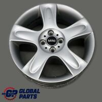 "BMW Mini Cooper 2 R50 R52 R53 Silver Wheel Alloy Rim 17"" 7J ET:48 5-Star 91"