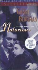 VHS: ALFRED HITCHCOCK'S  NOTORIOUS.....INGRID BERGMAN-CARY GRANT.....NEW