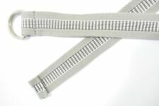 GRAY CHECK WOVEN 30 DOUBLE D O BELT MENS NEW