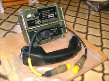 CLANSMAN MILITARY RADIO CONTROL BOX & CABLE VIA Don 10 TWISTED PAIR AT DISTANCE