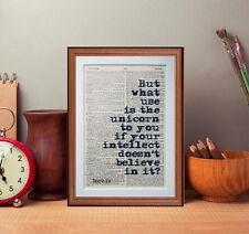 Umberto Eco cita Diccionario página Literaria Art Print Presente Regalo Libro Comillas