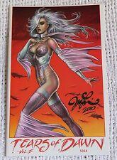 TEARS OF DAWN Vol II  # 2 F/VF Comic Very Rare SKETCHBOOK SIGNED JML LINSNER