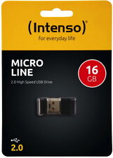 Intenso USB Stick 16GB Speicherstick Micro Line Mini