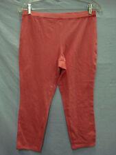 NWOT Women's No Nonsense Chino Capri Leggings Size Medium Pink #462E