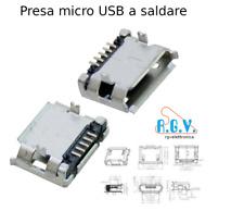 Connettore micro USB presa femmina 90° da circuito stampato pannello a saldare