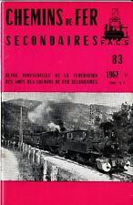 CHEMINS de FER RÉGIONAUX et URBAINS - N° 83 (1967 - 5) (Train)