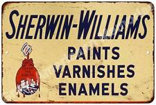 Sherwin Williams Paints Vintage Look Reproduction Metal Sign 8x12 8123206