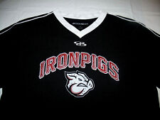 Lehigh Valley IronPigs #22 Black Jersey White Trim MiLB Boombah Brand Mens Large