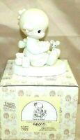 """PRECIOUS MOMENTS by Enesco 1984 Piece E-5377 Collectible 4"""" Porcelain Figurine"""