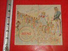 JE680 Vintage Victorian Trade Pamphlet Uncle Sam Pillsbury Flour Ad