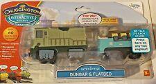 CHUGGINGTON, Interactive Railway, Interactive Dunbar and Flatbed, 2010, RARE TOY