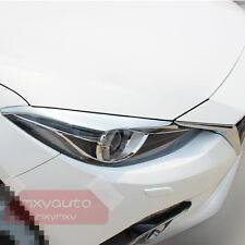 New Chrome Trim Front Head Light Lamp Eyebrow For Mazda 3 M3 2014 2015 16 AXE