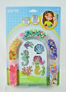 Perler - Mermaid Kit - 2003 Pieces - Fused Bead Kit - 12 Projects (New)